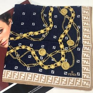Fendi Mini Scarf in chain, FF monogram